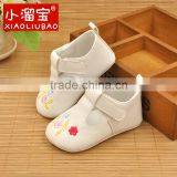 2016 Handmade Soft Bottom Fashion Baby Moccasin Newborn Babies Shoes PU leather baby boots