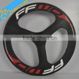 FFWD carbon 3 sopke bicycle wheels for sale,OEM 700c three spoke carbon fiber road bike wheels