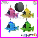 D376 Animal Sound Button Stuffed Fish Plush Toy Sound Button