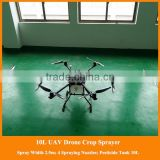 rc and gps control gps drone flying agricultural drone sprayer, agriculture uav, gps drone with 10l pesticide tank