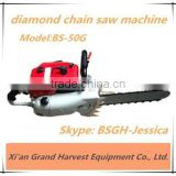 Good quality and low price diamond hole saw BSGH concrete cutting chainsaw machine with gasoline