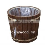 hot sell cheap wood ice bucket with plastic inner