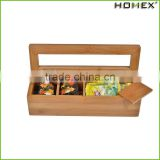 Hot Sale Kitchenware Bamboo Box With Lid For Sundries,Bamboo Tea Storage Box/Homex_Factory