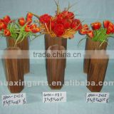 antique decorative wooden vase,wooden flower pot for dry flower