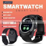 touch screen Bluetooth fitness watch step calculater pedometer health care high quality V8 smart watch