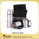 stainless steel vacuum flask and mugs gift set KG-01SET