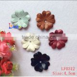 The polychrome genuine leather flower appliques for the hairband