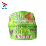 100% Polyester Printed Butterfly Apple or Red Heart Grosgrain Ribbon