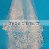 China factory embroidery lace indian bridal wedding veils with combs