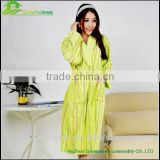 Wholesale cotton bathrobe thicken Cotton bathrobe adults bath robes jacquard color strip warm cloth bathrobe