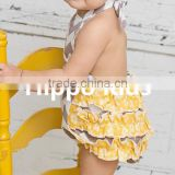 wholesale baby girl sunsuit romper grey chevron new born clothes ruffle romper toddler girl easter boutique infant outfits
