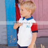 New fashion summer white short sleeve tshirt kids polo