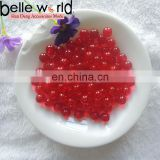 Wholesale Customized Colors 10mm Resin Semi-hole Clear Beads