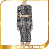 2014 mature hot sell two pieces evening dress cover ups