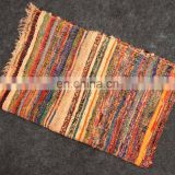 Wholesale Chindi Carpet Rug Indian Cotton Handmade Woven New 5'x3' Yoga mat home decor