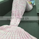 Girls crib siesta mermaid blanket fish tail blanket 2017 high end