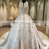 2017 aliexpress pakistani vintage wedding dresses satin fabric
