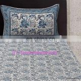Hand Block Print Bed Sheet Set, Queen Size Printed Bed Speared With 2 Pillow Cas
