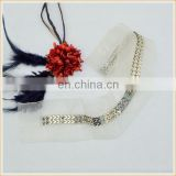 fashion new design metal chain lace trimming garment accesorry for lady dress decoration wholesale