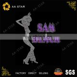SAM BLACK afro rhinestone appliques for ladies' clothing