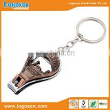 Anti copper ITALIA logo finger nail clipper holder toe key chain nail clipper