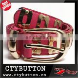 2015 CTY013 pink big buck wide belts women