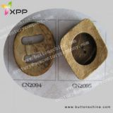 Big Hole Natural Coconut Shell Button
