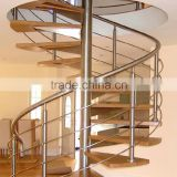 Indoor Stainless Steel Handrail Spiral Staircase Decorative SpiralStairs                                                                         Quality Choice