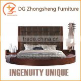 New Design Bedroom Furniture Kingsize Wood Bed Frame for Sale