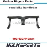 Hot sale riser bar with stem Inter cable 400/420/440mm road bike carbon handlebar matte carbon bicycle parts