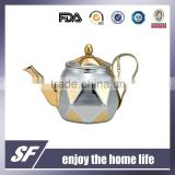 Set Of Side Handle Chromium plating and gold plating Stainless Steel Tea Kettle/Tea Pot(SF-7783 SSG)