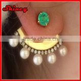 shiney jewely 2014 new alloy earring,pearl earing designs