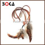 // fashion decorative feather pu knitted // belt for wholesale,hot selling fashion belt //
