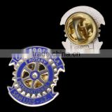 "1.25"" size, gold plated, zinc alloy hard enamel corporate laple pins with butterfly clutch for promotional event"