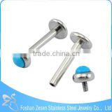 316l Stainless Steel Body Piercing Jewelry Lip Stud Labret Ring