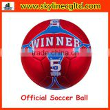 New Best Official Machine Stitched Football,Matte metal leather soccer ball