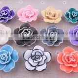 Mixed color Halloween Clay flower beads in bulk !loose rose flower clay beads for DIY fashion jewelrys!! Cheapest!!