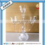 Hot wholesale tall crystal glass wedding light table tree candelabras centerpieces                                                                         Quality Choice