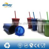 See larger image high quality coffee tumbler with straw double wall type high quality coffee tumbler with straw double wall typ