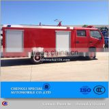 Fire emergency rescue truck (single or double row cab) Custom fire truck--choose your chassis and determine tank volume