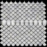 new design high quality fhish scale Pure White freshwater shell mosaic tile,bathroom tile
