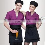 Hotel uniform false two summer Hotel Coffee shop restaurant catering waiter work wear short sleeved men and women