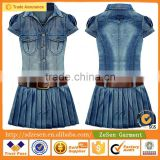 2016 Spring Long Sleeved Wholesale Denim Cotton Dress Apparel Plus Soze Clothing For Women