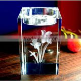 New design 3D laser engraving crystal candle holder