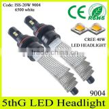 2015 newest fanless!! high/ low beam led headlight 2500lm copper belt car bulbs for jetta