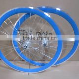 2016 hot selling aluminum alloy wheel set fixed gear wheelset deep V rim 45mm filpflop hub wheelset china wheelset factory                                                                         Quality Choice