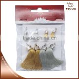 Hanging Tassel with cap yellow & grey 8 pcs decoration and jewelry pendant or for curtains and car