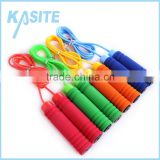 High quality 2.7M*5mm PVC adult skipping rope, PP handle with single color foam