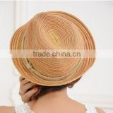 2015 Wholesale Promotional Cheap Manufacture Jazz Hat Fashion China Braid colorful Straw Hat