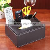 Creative home leather remote storage bo multifunctional tissue bo European household sundries bo leather